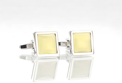 Yellow and Silver Cufflinks