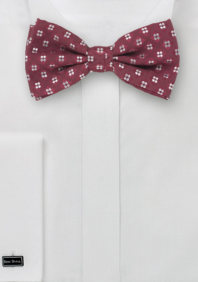 Wine Red Bow Tie & Pocket Square