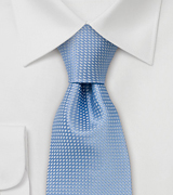 Spring and Summer tie Solid colored light blue tie with fine pattern
