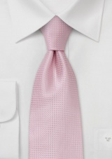 Pink Extra Long Ties Light Pink Necktie in XL