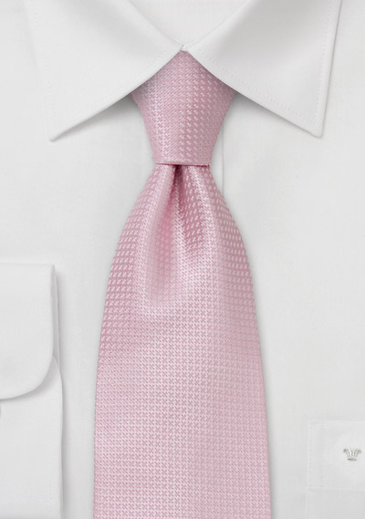 Spring and Summer tie <br> Solid colored pink tie with fine pattern