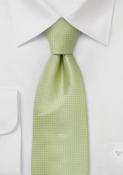 Green Extra Long Ties<br>Light Green Silk Tie in XL
