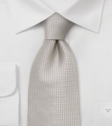Champagne Color Silk Tie in XL Length