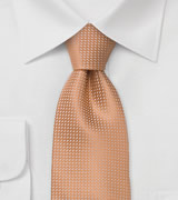 XL Mens Neck Ties Apricot Color Silk Tie in XL