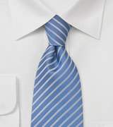 Sky Blue Striped Tie
