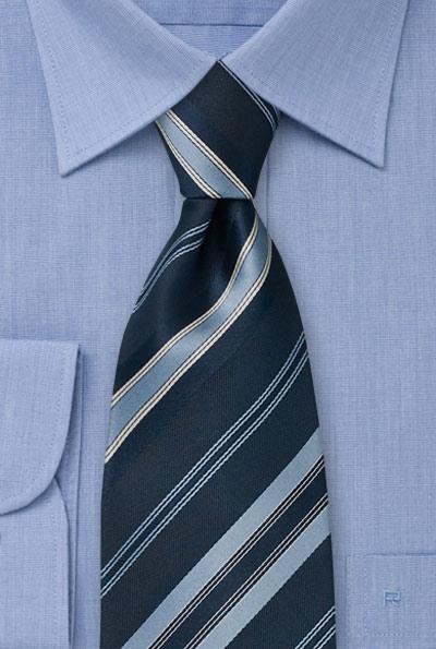 Navy blue striped tie dark blue necktie with diagonal stripes for Blue striped shirt with tie