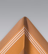 Burnt Orange Striped Pocket Square