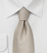 Wheat-Tan Silk Tie in XL