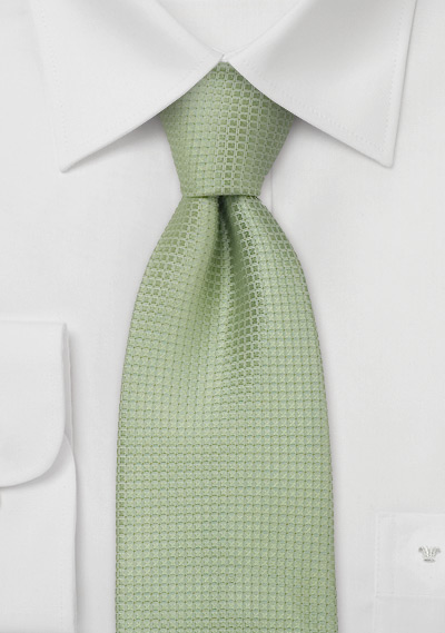 Silk neckties<br> Light green designer silk tie