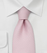 Designer neckties Light pink silk tie by Chevalier