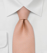 Extra Long Ties Salmon colored silk tie by Chevalier
