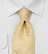 Designer neckties  Yellow silk tie by Chevalier