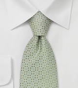 Extra Long Ties Light green necktie by Chevalier