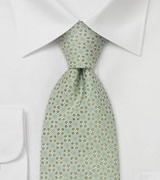 Designer neckties Light green silk tie