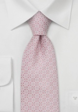 Extra long neckties Pink silk tie by Chevalier