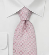 Designer silk ties Pink men's necktie