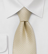 Extra long silk ties Champagne colored XL necktie