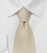 Extra long ties Cream/tan colored XL-Necktie