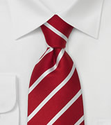 "Business Necktie ""Diplomacy"" - Cherry Red"