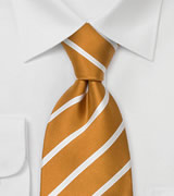 Striped Mens Ties Goden Yellow Striped Silk Tie
