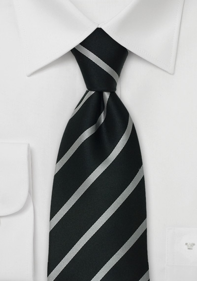 formal black tiesblack silver striped tie