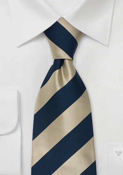 Extra Long Silk Ties<br>Striped Tie \&quot;Lighthouse\&quot; by Parsley