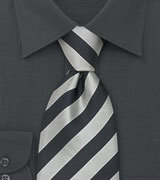 Striped Silk Ties Gray & Silver Striped tie