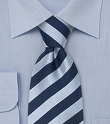 Blue striped ties Striped silk tie in blue