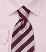 "Striped Tie ""Identity"" - Pink & Purple"