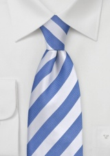 "Extra Long Light Blue Ties Striped Necktie ""Identity"" by Parsley"