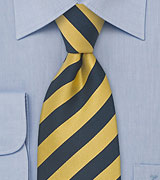 XL Necktie in Yellow and Navy
