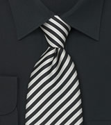 "Extra Long Mens Silk Ties Striped Tie ""Signals"" by Parsley"