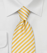 Extra Long Ties Yellow & White Striped XL Tie