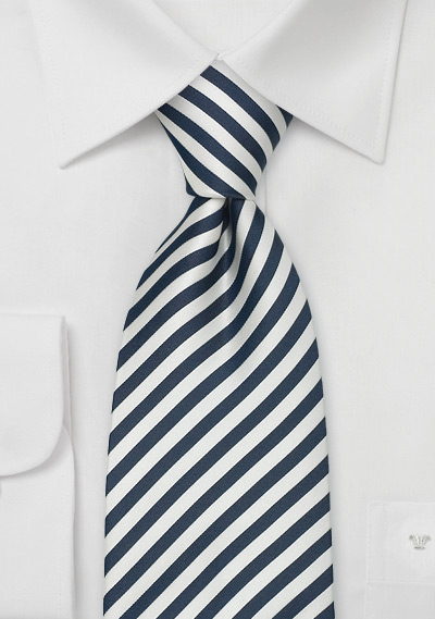 Striped XL Business Neckties<br>Striped Tie \&quot;Signals\&quot; by Parsley