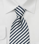 "Striped XL Business Neckties Striped Tie ""Signals"" by Parsley"