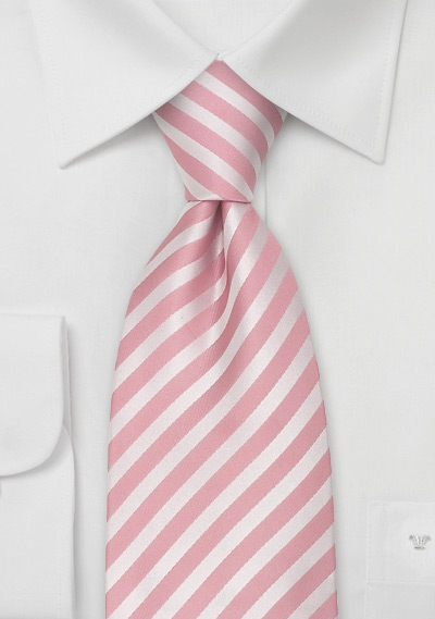 Pink Extra Long Ties<br>Pink silk tie in XL length