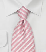 Pink Extra Long Ties Pink silk tie in XL length