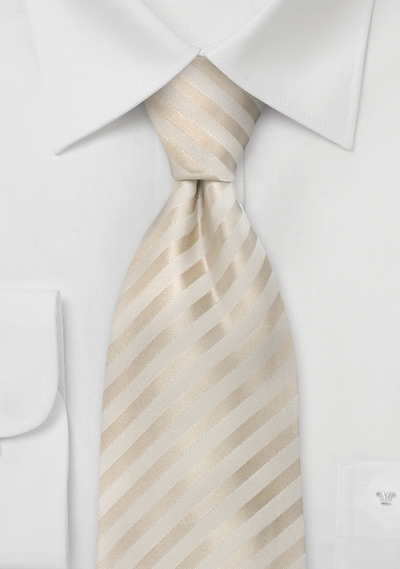 Formal Extra Long Ties<br>Ivory Color XL Necktie