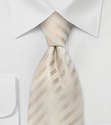 Formal Extra Long Ties Ivory Color XL Necktie