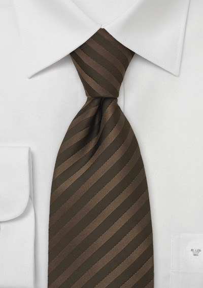 Mens Silk Tie in Chocolate Brown