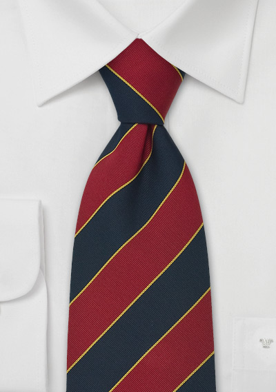Extra Long British Neck Ties<br> Regimental Tie \&quot;Oxford\&quot; by Parsley
