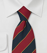 "Extra Long British Neck Ties  Regimental Tie ""Oxford"" by Parsley"