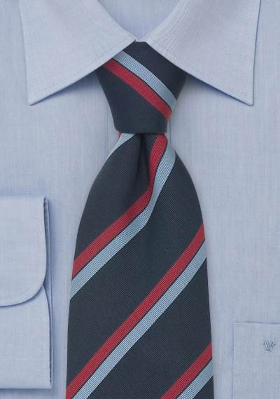 Dark Blue Clip-On Ties<br>Navy Blue Clip-On Necktie