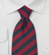 Pre-tied Clip-On Ties Striped Clip-On Necktie