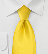 XL Silk Tie in Canary Yellow