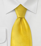 Solid Silk Tie in Canary Yellow