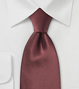 Solid XL Tie in Chestnut Brown