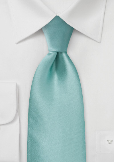 Light Mint Green Silk Tie