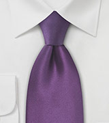 Violet Purple Mens Necktie