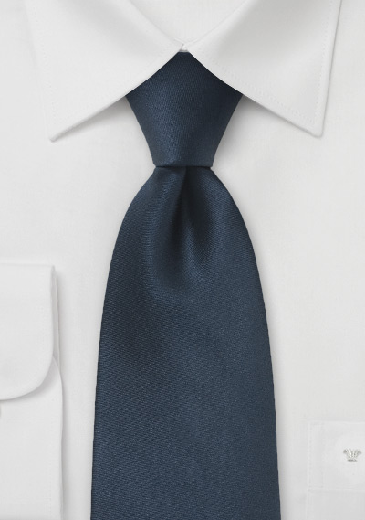 Dark Navy Blue Kids Silk Tie